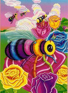 Lisa Frank ~ Buzz the bee notecard by DeeDeeQ5724, via Flickr
