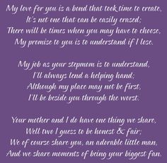 Great Stepmom poem.