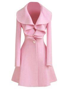 f29e5e9cb2a54 Trench Women Coat Pink Jacket Long Sleeve Women Overcoat