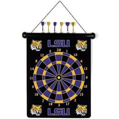 LSU Tigers Team Magnetic Darts Set