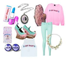 """""""Melanie Martinez pastel outfit"""" by threech33rs4sweetrevenge ❤ liked on Polyvore featuring Lime Crime, Dollhouse and Tommy Hilfiger"""