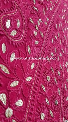 Ada Hand Embroidered Magenta Georgette Kurta Dupatta with Gota Patti work offers a comfortable and relaxed silhouette to the wearer #Ada #Adachikan #chikankari #handcrafted #magenta #viscosegeorgette #kurtadupatta #gotapatti #embellishment #georgette #handembroidery #lakhnavi #lucknow #traditionalcraft #chikankaricraft #handembroidered #indianart #indianfashion #womensfashion #hazratganj