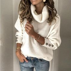 BONITA - Mollig-Warmer Winter Long Sleeve Source by fashion para gordinhas Casual Sweaters, Winter Sweaters, Sweaters For Women, Knit Sweaters, Sweater Cardigan, Mode Outfits, Dress Outfits, Trendy Outfits, Dresses