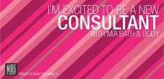 Be the first in your town to become a Mia Bath and Body Consultant !  www.julieo.miabathandbody.com
