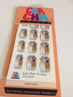 Nail Decals featuring Las Dos Fridas the two Frida Kahlos on Etsy, $6.00