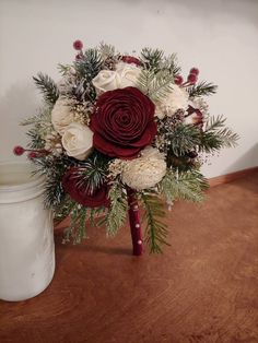 Wedding Bouquet, Sola Bouquet, ivory winter Bouquet, burgundy Bouquet, Bride Bouquet,Winter White Bouquet,, pine cone bouquet, woodland Floral Wedding, Wedding Flowers, Casual Wedding, Wedding Stuff, Christmas Wedding Bouquets, Cotton Bouquet, Evergreen Wedding, Winter Bridesmaids, Burgundy Bouquet