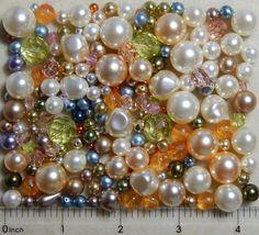 Tapestry Mix 1/4 Lb Pound Preciosa Czech Glass Pearl Gold Ivory Taupe Pink Beads #Preciosa #GlassPearlFirePolishedDrukPressed