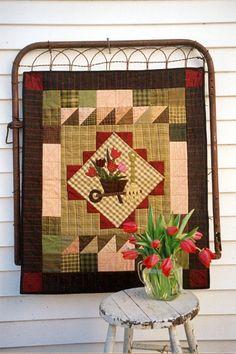 Country Threads :: Garden Quilt Patterns :: Tulip Cart Wall Quilt Pattern