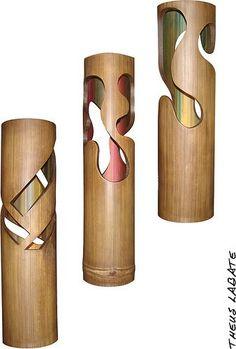 Artesanato confeccionado em bambu gigante...