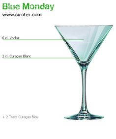 Recette Cocktail BLUE MONDAY