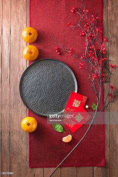 Stock Photo : Chinese new year food and drink still life.
