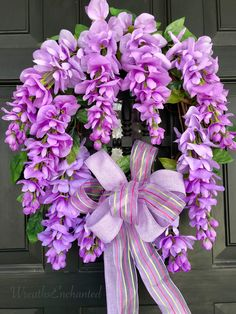 Spring Lilac Wisteria Wreath https://www.etsy.com/listing/609957641/spring-wreath-summer-wreath-mothers-day
