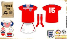 England away kit for the 1982 World Cup Finals.