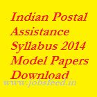 Indian Postal Department Exam Syllabus 2014