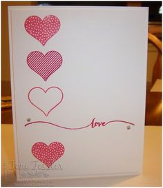 Hello Life Stampin Up Strawberry Slush Rose Red clean and simple Valentine card