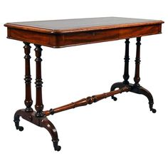 Early Regency Leather Top Writing Table, circa 1810 | 1stdibs.com