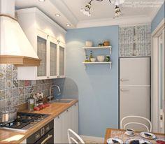 Дизайн-проект кухни в хрущевке с раздвижной дверью