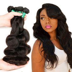 Human Hair Weave Brazilian Virgin Hair Bundles Body Wave 3 Bundles Unprocessed Virgin Remy Human Hair Extensions 8a Grade Natural Color (18 18 18)