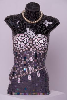 Mosaic torso Jemma by MicheleRiceMosaics on Etsy, $1200.00 Find distressed mannequins and torsos at the MannequinMadness.com boneyard.