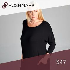 ✅✅Your FAVORITE BLACK DRESS #3!!✅✅ Limited Edition Style!! High quality.  Oversize Maxi Dress with Side Slit and Side Pockets  Fitted 3/4 Sleeves, Round Neck Line.  95% Rayon, 5% Spandex  Made in USA Dresses Maxi