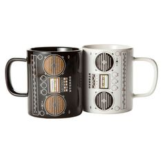 My design inspiration: Boombox Mugs Set Of 2 on Fab. Cuppa Joe, Cool Mugs, Coffee Cups, Coffee Coffee, Coffee Time, Tea Time, Boombox, Mug Shots, Mugs Set