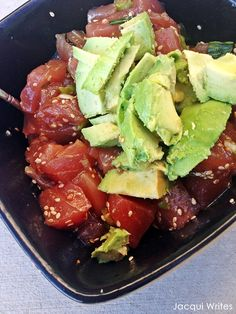 Simple Ahi Poke Recipe (Add cucumber, jalapeño, and peach)