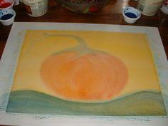Waldorf autumn watercolour (grade 2) teaching colour blending.