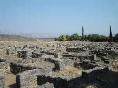 """Another view of the old city of Capernaum where Jesus walked and lived and also the Blessed Mother. """"He entered a boat, made the crossing, and came into his own town. ."""" -Matthew 9:1 (NABRE)"""