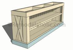 Build a Farmhouse Style TV Console/Sideboard (Remodelaholic) Do It Yourself Furniture, Diy Furniture Plans, Farmhouse Furniture, Wood Furniture, Farmhouse Decor, Farmhouse Table, Furniture Projects, Modern Farmhouse, Farmhouse Tv Stand