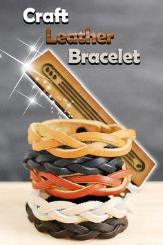 Leather Jewelry, Leather Craft, Braid Cuffs, Survival Stuff, Braided Bracelets, Head Start, Veggie Dishes, Vegetable Tanned Leather, Leather Working