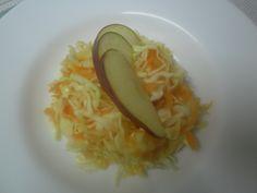 TUESDAY SALAD - White cabbage, - Carrot, - Apple, - Lemon juice, - Salt, - Sugar. Enjoy your meal!