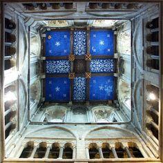 Wimborne Minster Tower Ceiling, Wimborne Minster dates from 705AD. Dorset, England