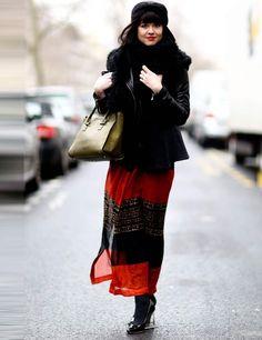 skirt + bomber will do it. Paris. #PFW