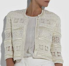 Irish crochet &: Жемчужный паучок. ЖАКЕТ OSKAR DE LA RENTA