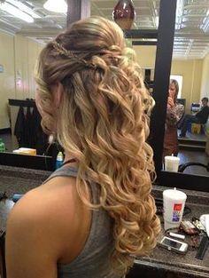 plain homecoming hair style