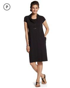 Chico's Women's Zenergy Petite Tanya Short-Sleeved Dress