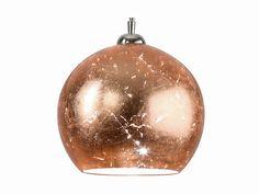 Paralume foglia rame COPPER GLASS Collezione Lampade a sospensione by Hind Rabii