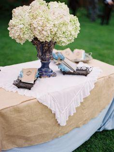 #hydrangea, #centerpiece  Photography: Amelia Johnson Photography - ameliajohnsonphotography.com  Read More: http://www.stylemepretty.com/2011/09/01/alexandria-wedding-by-amelia-johnson-photography/