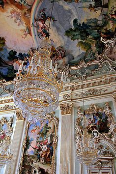 Architectural details inside Nymphenburg Palace in Munich, Germany - This is what I wanted to see in Munich! The Amalienburg is one building on the grounds.