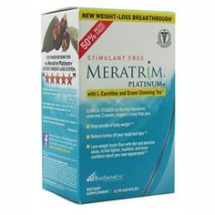 BioGenetic Laboratories - Meratrim Platinum+ Stimulant Free with L-Carnitine & Green Slimming Tea - 90 Capsules... $13.95 (save $36.04)