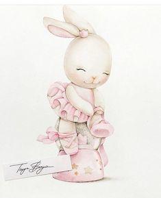 Coneja Clipart Baby, Bunny Nursery, Nursery Art, Bunny Art, Cute Bunny, Cute Animal Drawings, Cute Drawings, Baby Illustration, Illustrations