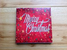 Merry Christmas Stars Drink Coasters by DanielleCherieDesign