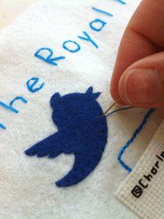 Stitching the bird...