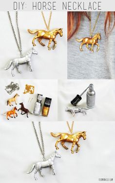 DIY Horse Necklace...is it strange that i like this?