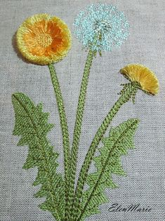 Dandelion_Fringe - MACHINE EMBROIDERY DESIGN This design is manually digitized by myself, not auto digitizing. W: 95.2 mm (3.75 inches) H: 147.9 mm (5.82 inches) Stitches: 6043 Colors: 5 Hoop size: 180*130 mm (7*5 inches) Formats: JEF, PES, HUS, JEF+, EXP, DST, VIP, VP3, XXX,PEC If you require a different file format, size or color, please email me first to make sure I can accommodate you (I normally can). You must have an Embroidery Machine to use these designs. These are great for pill...