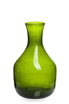 """Butla lata 70. XX w. Huta Szkła """"Sudety"""" w Szczytnej, proj. Zbigniew Horbowy szkło sodowe 'antico', formowane ręcznie, barwione w masie, 26,5 x 15 cm Green Vase, Glass Ceramic, Glass Collection, Glass Art, Auction, Art Deco, Porcelain, Gems, Ceramics"""