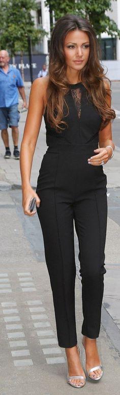 Sexy Black Jumpsuit - Michelle Keegan
