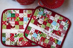 Anna's potholders.  The Merry Christmas makes it even more special.  What a great scrap project.