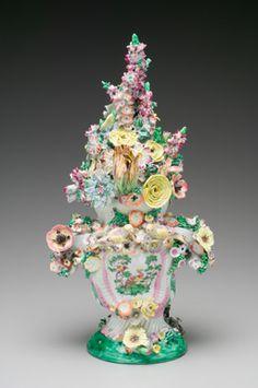 Covered Vase, c.1754-1757, Longton Hall, created by William Littler (British, 1724 - 1784), Staffordshire, Great Britain, Soft paste porcelain, enamel