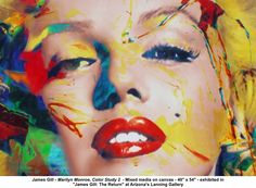 "James Gill ""Marilyn Monroe, Color study 2"